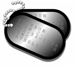 Clipart - Military Dog Tags
