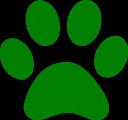 Green Paw Print clip art - vector clip art online, royalty free ...