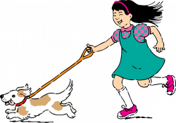 Clipart - walking dog