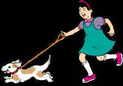 Clipart - walking dog