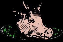 Clipart - Pig Head Dinner