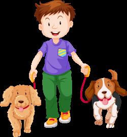 Dog walking Clip art - Cartoon boy, pet dog 2118*2290 transprent Png ...