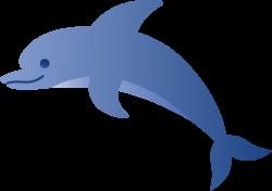Cute Blue Dolphin - Free Clip Art