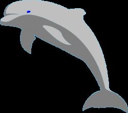 Gray Dolphin Clip Art at Clker.com - vector clip art online, royalty ...