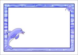 Dolphin A4 page borders (SB9765) - SparkleBox ...