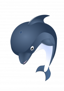 Clipart - Jumping dolphin