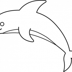 Dolphin Clipart Black And White clipart hatenylo.com