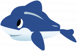 Clipart - Dolphin (CMYK)