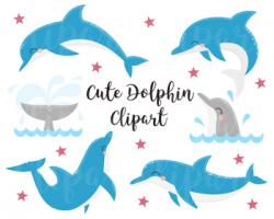 Ocean Life Clipart, Dolphin clip art, Dolphin clipart, Whale Clipart