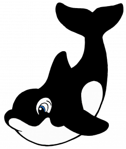 Orca clipart animated - Pencil and in color orca clipart animated