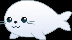 My free clip art of a cute little baby seal | Sweet Clip Art ...