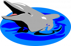 Dolphin | Free Stock Photo | Illustration of a dolphin in the water ...