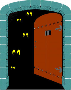 28+ Collection of Scary Door Clipart | High quality, free cliparts ...