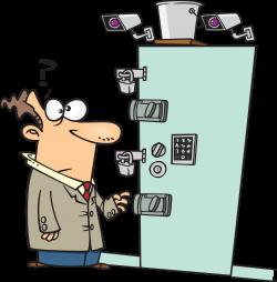 Safety Locked Door Clipart