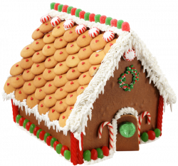 Large Transparent Gingerbread House PNG Picture | Gingerbread ...