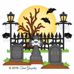 28+ Collection of Spooky Graveyard Clipart | High quality, free ...