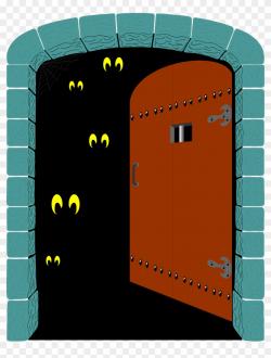 Creepy Clipart Open Door - Spooky Door Clipart, HD Png ...