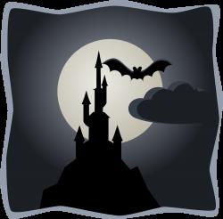 OnlineLabels Clip Art - Spooky Castle In Full Moon
