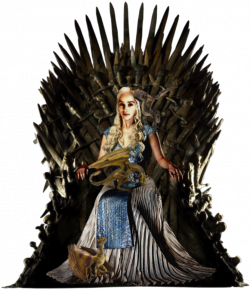 Daenerys on Iron Throne with Dragons PNG by nickelbackloverxoxox on ...