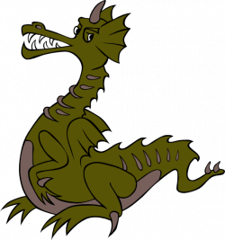 Fantasy clipart medieval dragon - Pencil and in color fantasy ...