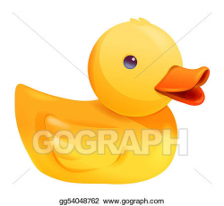Clipart - Toy duck. Stock Illustration gg54048762 - GoGraph