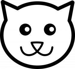 28+ Collection of Kitten Face Clipart | High quality, free cliparts ...