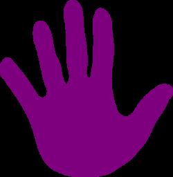 Hand - Purple Clip Art at Clker.com - vector clip art online ...