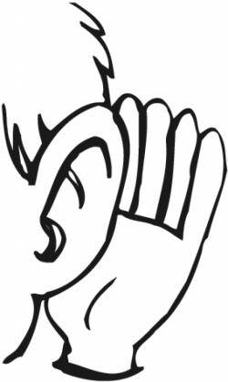 Hand to ear clipart listening ears clip art - ClipartPost