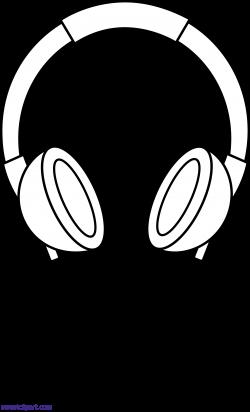 Headphones Line Art Clipart - Sweet Clip Art