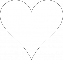 6 Free Printable Heart Templates | Pinterest | Heart template ...