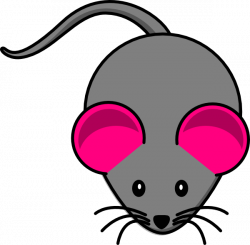 Pink Ear Gray Mouse Clip Art at Clker.com - vector clip art online ...