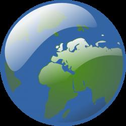 Earth Globe Clip Art at Clker.com - vector clip art online, royalty ...