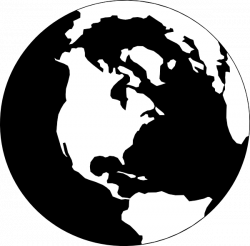 World Map Clip Art Black And White | Clipart Panda - Free Clipart Images
