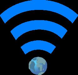 Wifi Symbol With Earth Clip Art at Clker.com - vector clip art ...