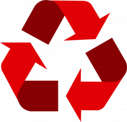 Red universal recycling symbol / logo / sign - http://www.recycling ...
