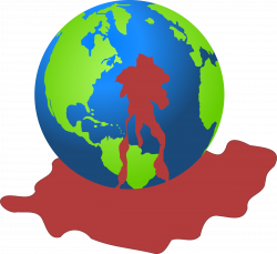 Clipart - Bloody Earth