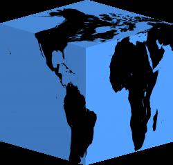 Clipart - Cube Earth Silhouette