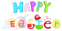 Happy Easter Banner Clip Art - 4th of July 2018