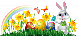 Easter Bunny Clipart Banners Borders Graphics Free Download