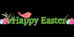 Happy Easter Banner PNG - Trendy Pixbay