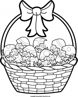 Easter Basket Clipart Black And White – Happy Easter 2018