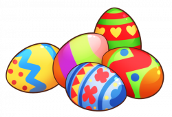 Easter Eggs in Grass Clip Art - 4th of July 2018