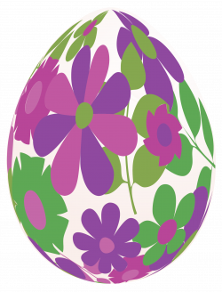Easter White Egg with Purple Flowers PNG Clipart Picture | Gallery ...