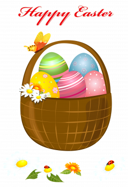 Happy Easter Basket PNG Picture Clipart | Gallery Yopriceville ...