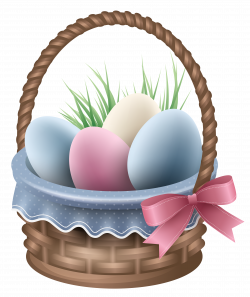 Transparent Easter Basket and Grass PNG Clipart Picture | Gallery ...