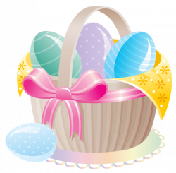 Delicate Basket with Easter Eggs PNG Clipart | stickers stik ...