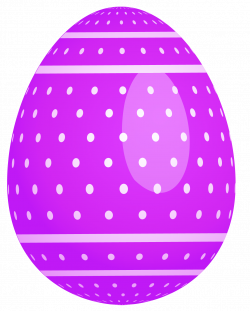 Purple Dotted Easter Egg PNG Clipart | Gallery Yopriceville - High ...
