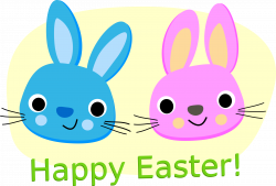 Clipart - Happy Easter - Rabbits