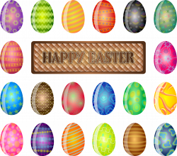 Clipart - Happy Easter Sign