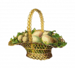 Antique Images: Easter Clip Art: Vintage Easter Basket Victorian Die ...